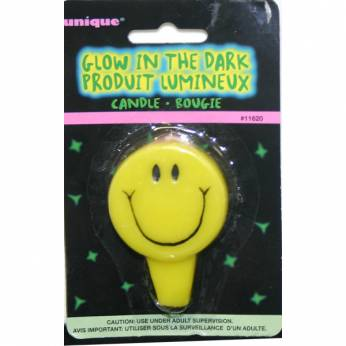 Glow in the dark smile kaars
