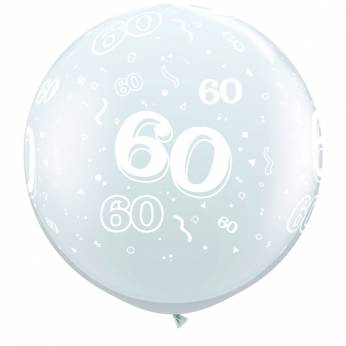 1 X 3FT (90 cm) Diamond Clear 60 Qualatex Ballon