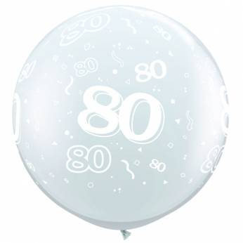 1 X 3FT (90 cm) Diamond Clear 80 Qualatex Ballon