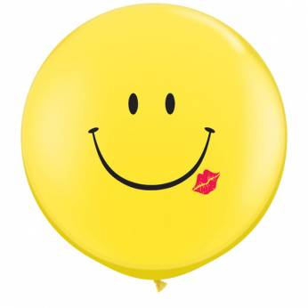 1 X 3FT (90 cm)  SMILE KISS Qualatex ballonnen