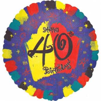 Folieballon Happy 40th Birthday