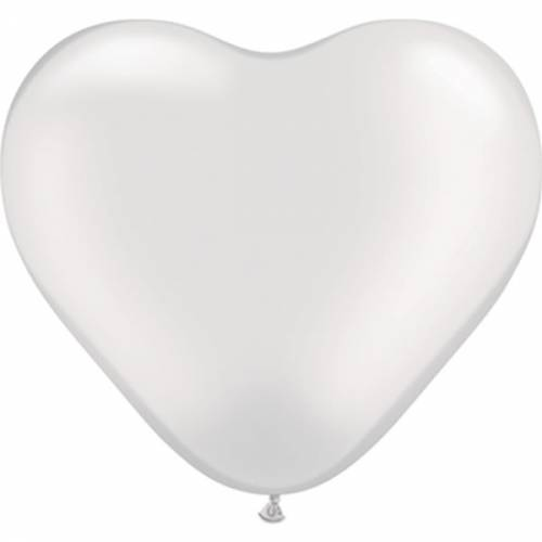Hartjes Ballon White 3ft Per Stuk