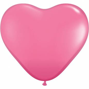 1 X 3FT (90 cm) Rose Hartjes Qualatex Ballon