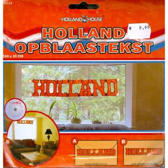 Holland opblaas tekst