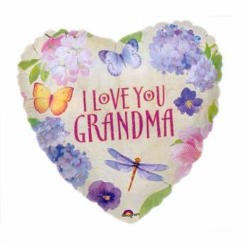 Folieballon met de Tekst: I love You Grandma