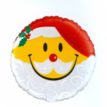 Folieballon Smiley Kerstman