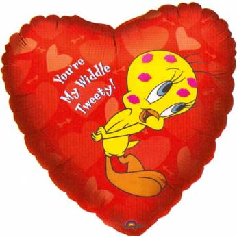 XL Folieballon Tweety en de Tekst: You're My Widdle Tweety
