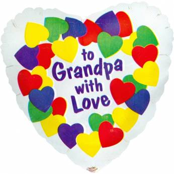 Folieballon met de Tekst: To Grandpa With Love