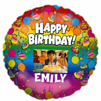 Gepersonaliseerde Foto Folieballon Happy Birthday