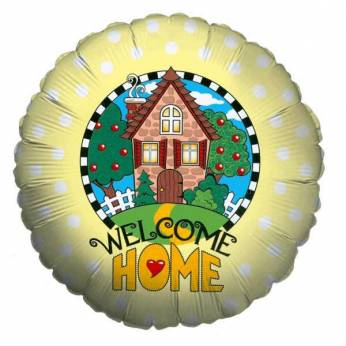 Folieballon met de Tekst: Welcome Home