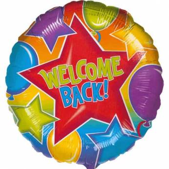 Folieballon met de Tekst: Welcome Back